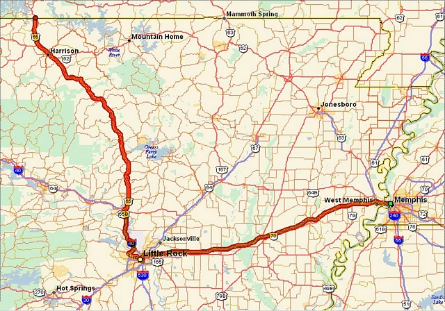 Route Overview - Us i 40 map