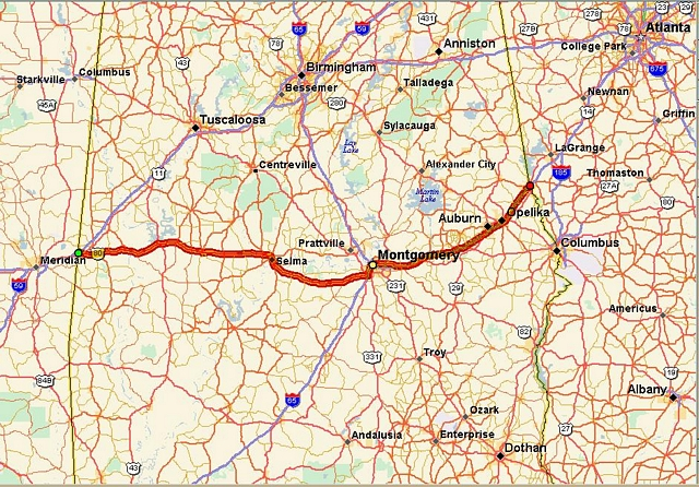 Map Of I 85 Georgia.Route Overview
